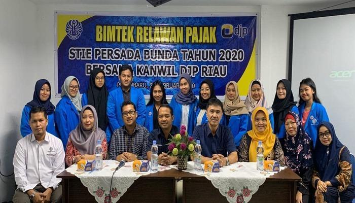 Bimtek Relawan Pajak STIE PB Tahun 2020 Bersama Kanwil DJP Riau