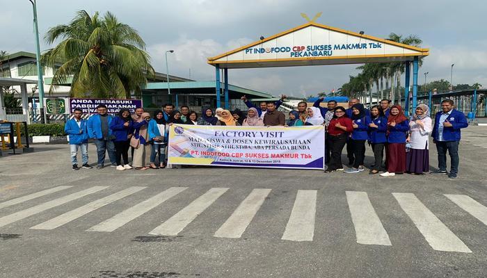 Factory Visit Mahasiswa dan Dosen Kewirausahaan PTS Persada Bunda