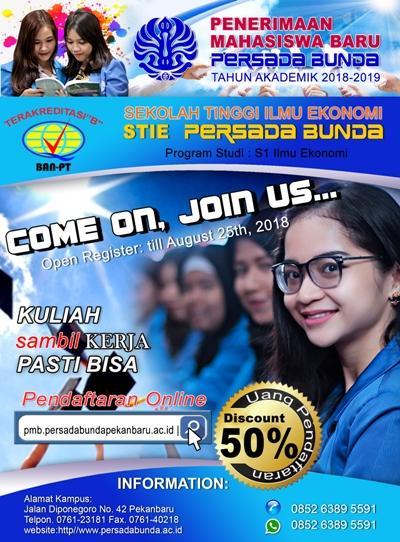 Penerimaan Mahasiswa Baru 2018-2019 STIE